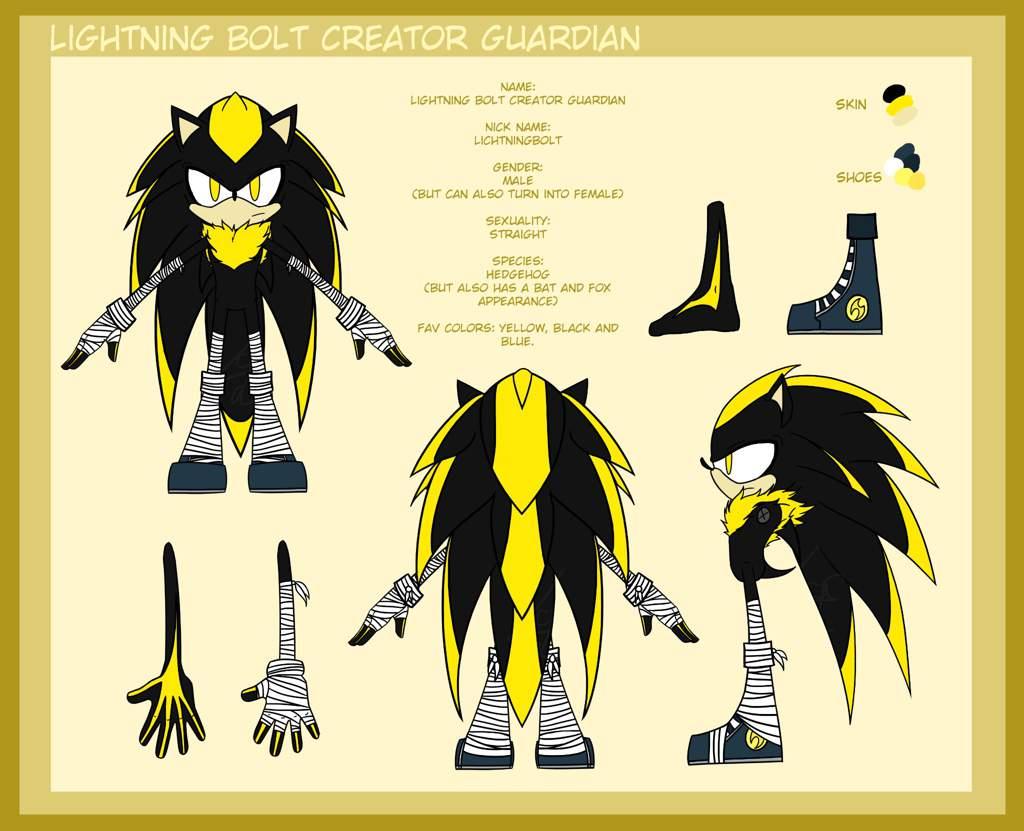 Lightning Bolt Creator Guardian Sonic Universe Character Sheet 1 Sonic The Hedgehog Amino