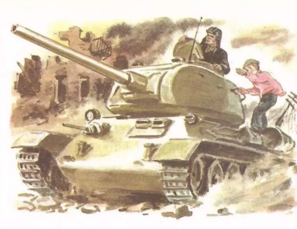 перед рассказ танкиста твардовского в картинках больше