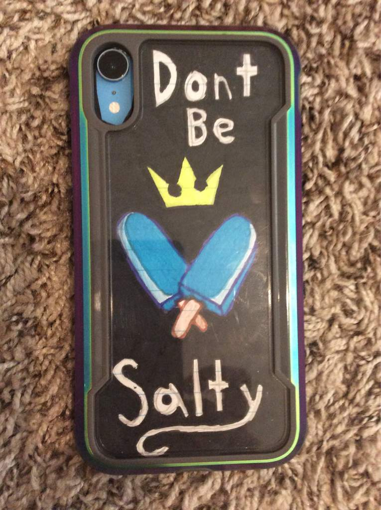 98c51fcabd3bab Drew a thing to put under my clear phone case. I got this idea from some KH  shirt I saw on the internet lol