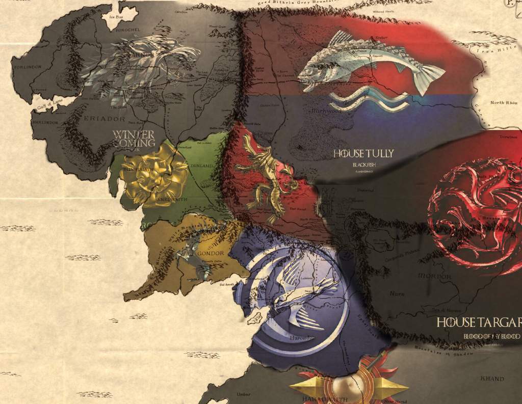 The Seven Kingdoms Of Middle-earth | Thrones Amino on lord of the rings map, the hobbit map, kingdoms of middle earth buildings,
