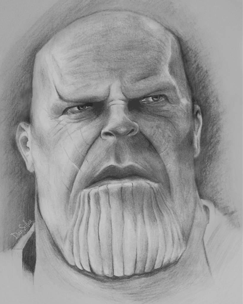 Fala Pessoal Aqui Um Desenho Rápido Que Fiz Do Thanos
