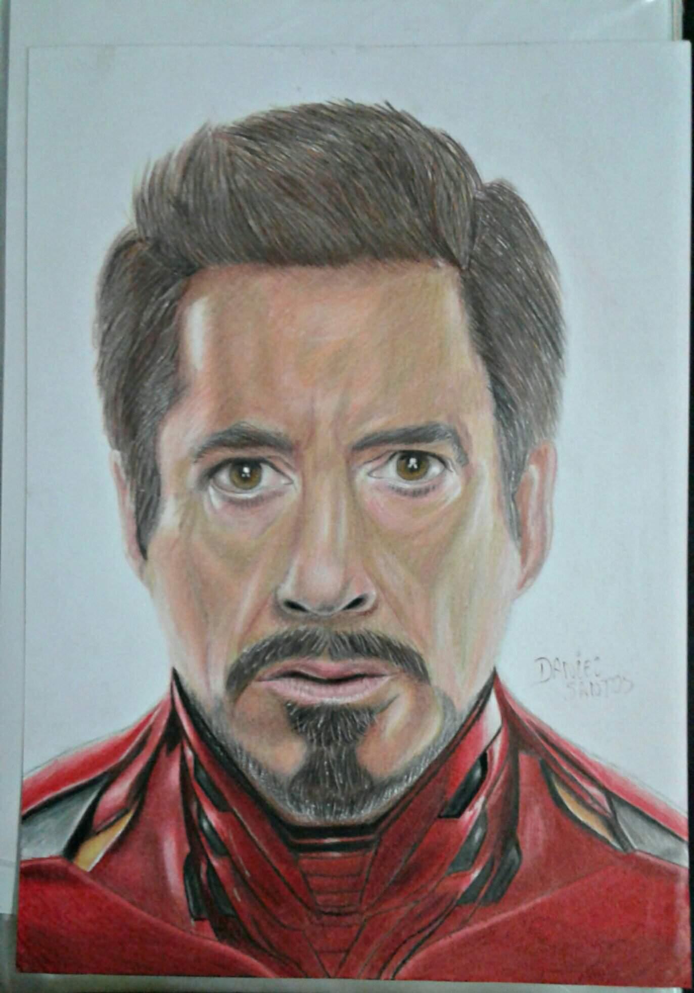 Tony Stark Vingadores Ultimato Desenho Marvel Comics Em