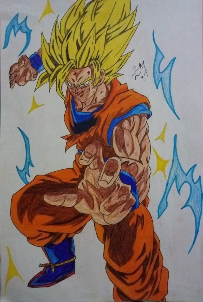 Drawing Goku Super Saiyan 2 Dragon Ball Super Official Amino