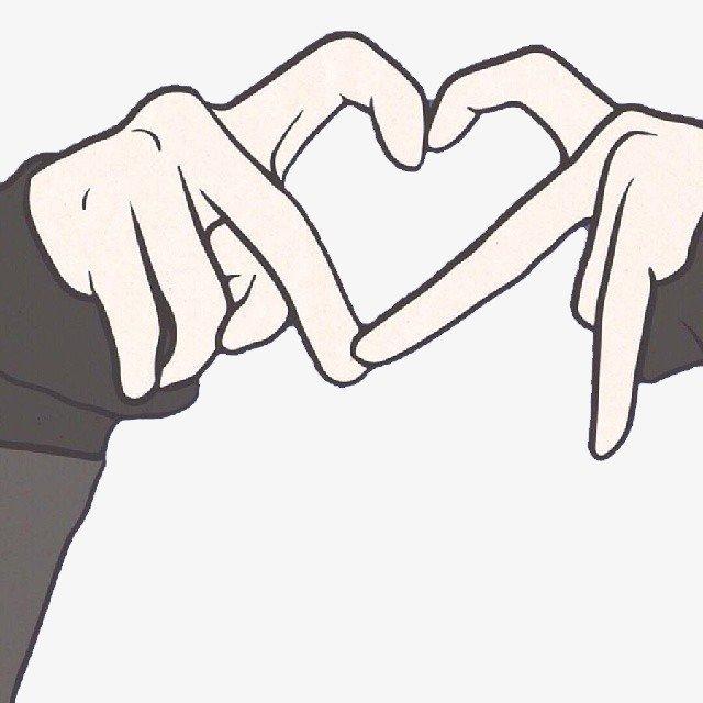 Картинки сердца из рук для срисовки, картинки