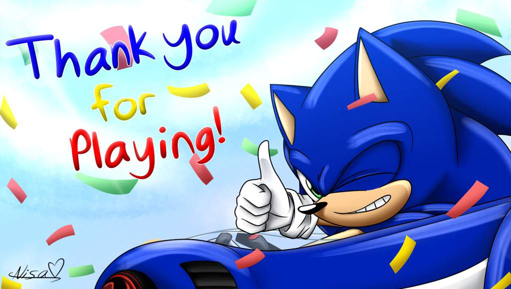 Thank you for playing Team Sonic Racing! | Sonic the ...