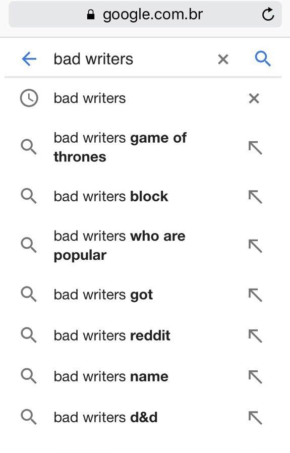 Escritores ruins | Game Of Thrones BR Amino