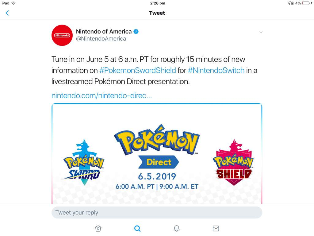 New Pokemon sword & shield direct just recently announced by