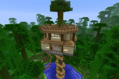 Jungle Treehouse Build Minecraft Amino