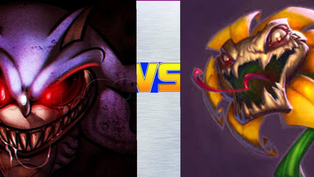 Versus Match)(205): Sonic exe Vs Flowey (creepypasta) Vs