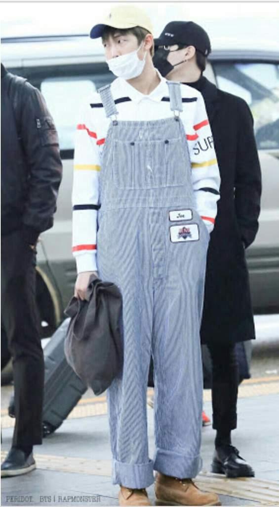 Namjoon In overalls airport fashion (FA) | ARMY's Amino