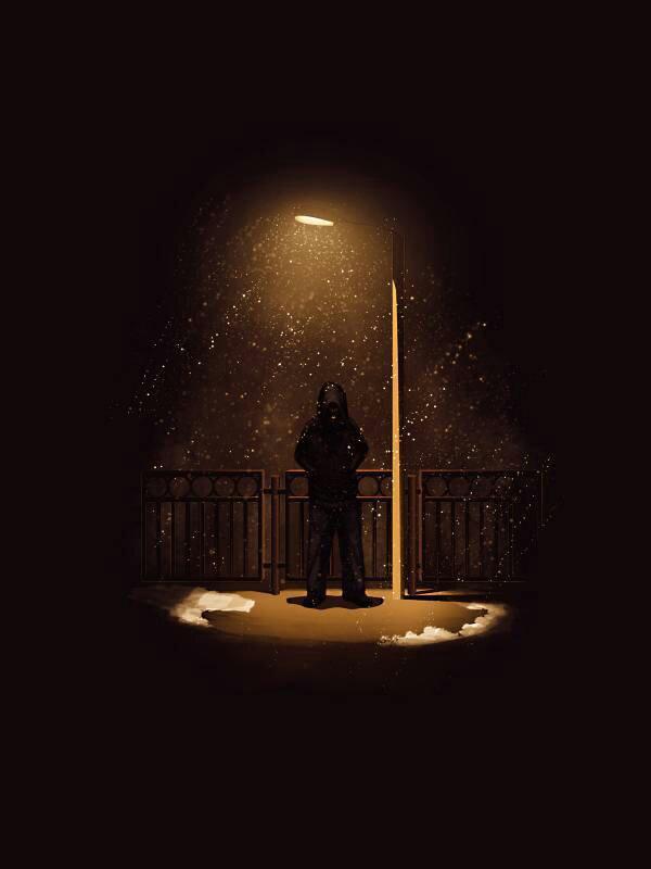 картинка фонарь во тьме