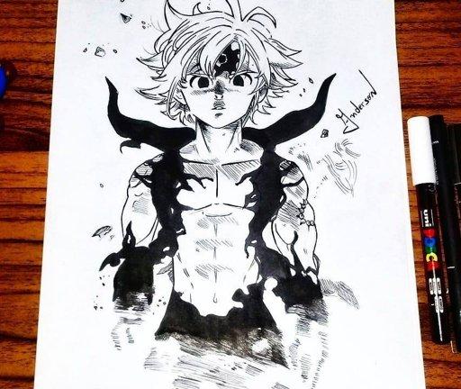 Curso De Desenho Como Desenhar Melhor Nanatsu No Taizai Amino