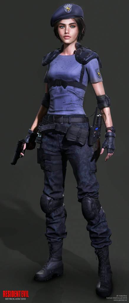 Jill Valentine Re3 Remake Fan Art Resident Evil Amino