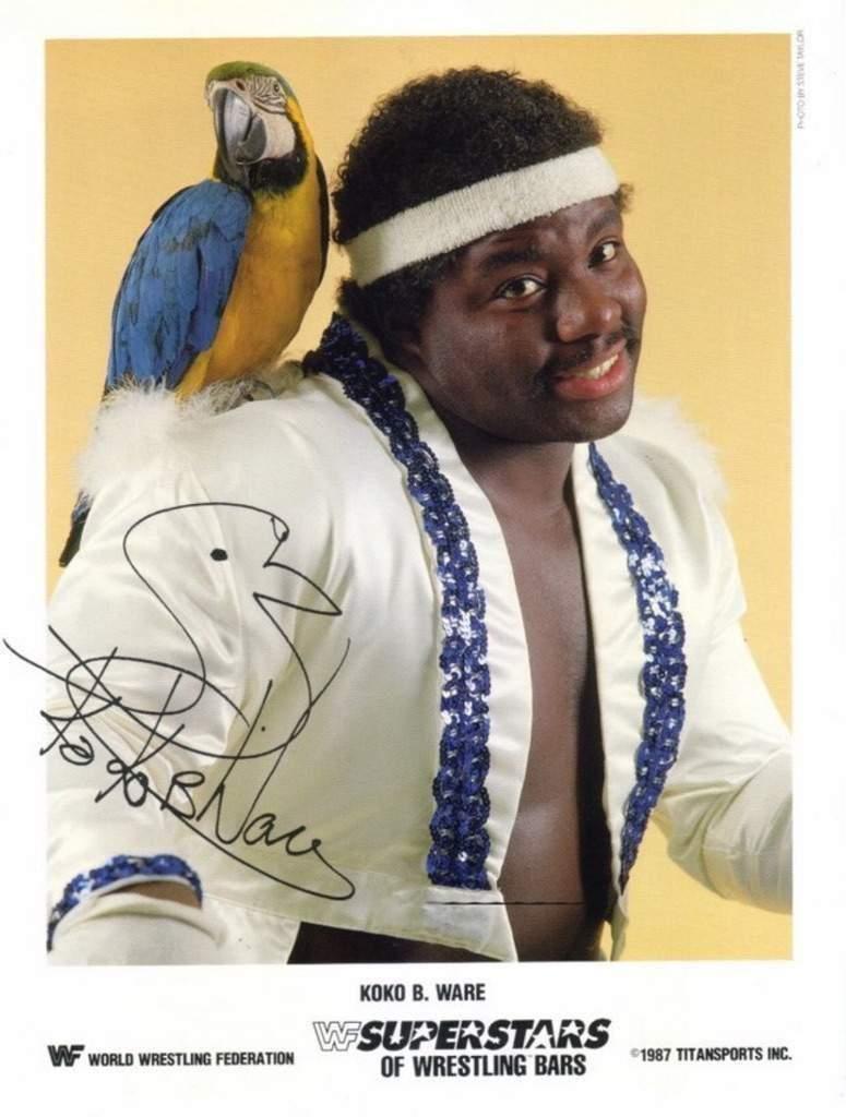 Autographed Koko B Ware Photo Wrestling WWF WWE UWF