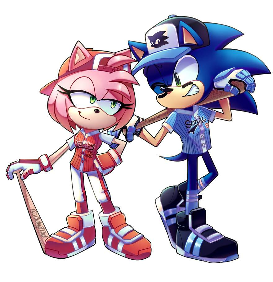 Amy Off Of Sonic sonic and amy baseball! | sonic the hedgehog! amino