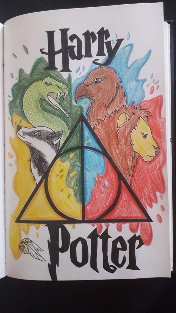 Dessin des 4 maisons Harry Potter °•☆•° | Harry Potter Fr ...