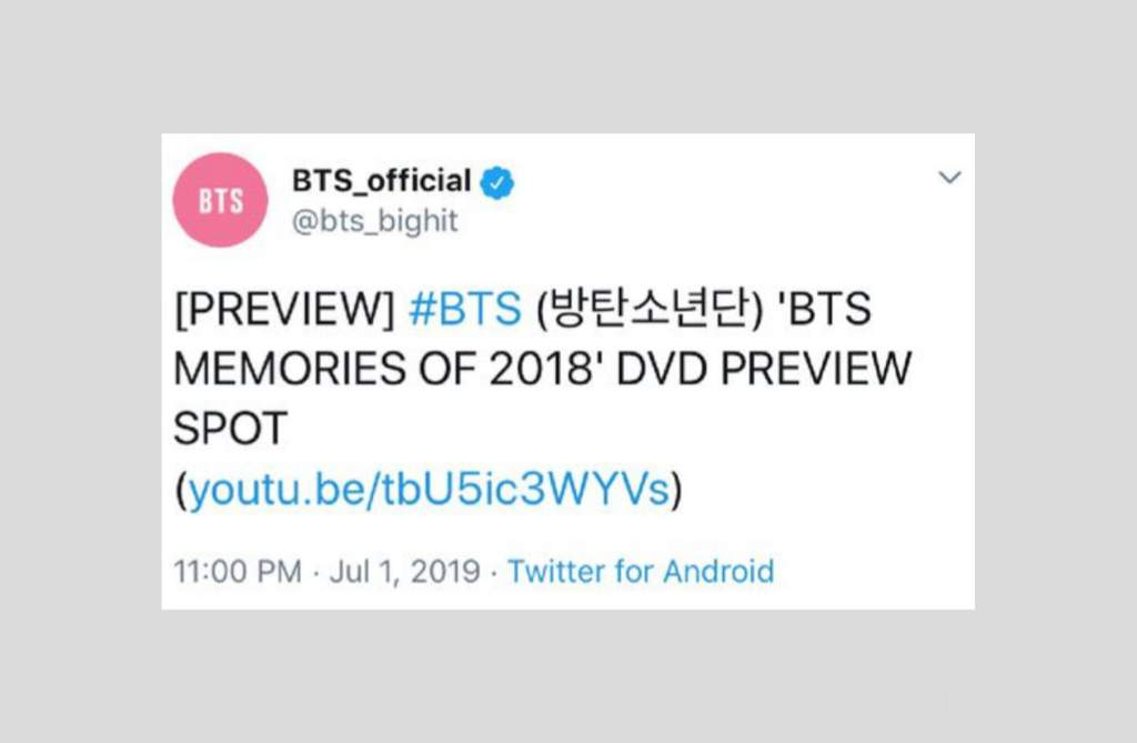 BigHit dropped the new Memories of 2018 DVD preview!!! | ARMY's Amino