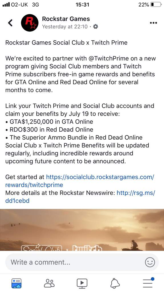 Rockstar & Twitch Prime partnership offer! | The Red Dead Redemption