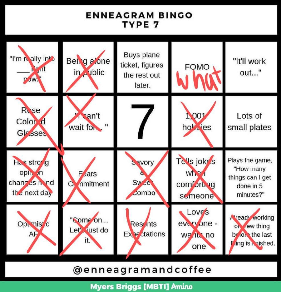 Enneagram Bingo Bingo Time Myers Briggs Mbti Amino