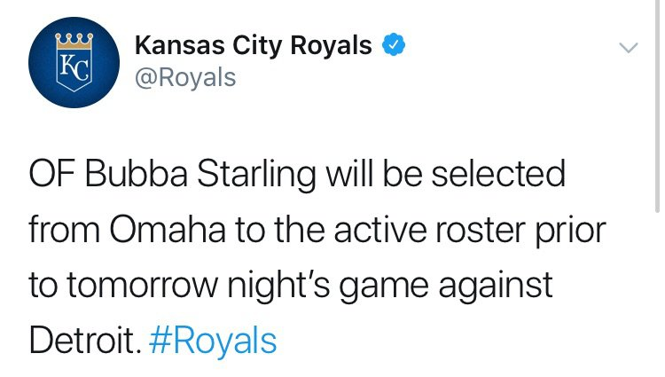 Royals Call Up Bubba Starling | Grand Slam Amino
