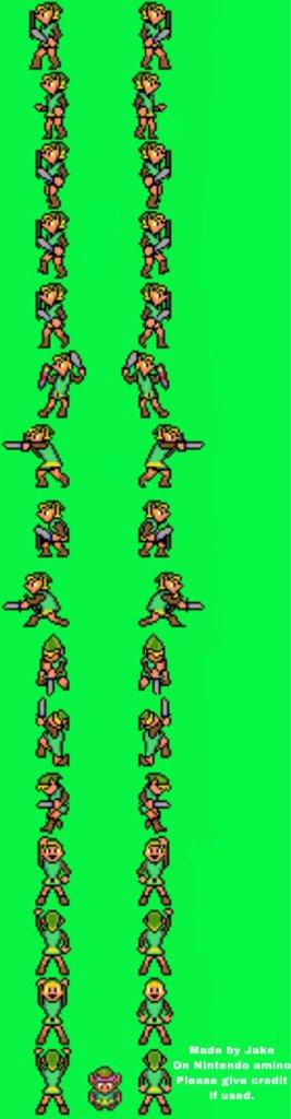 Zelda 2 16 Bit Sprite Sheet Nintendo Amino