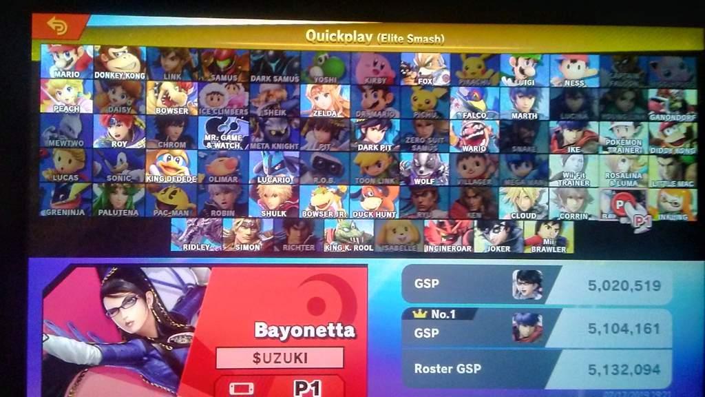 Bayonetta Elite Smash 5 Million GSP | Smash Amino