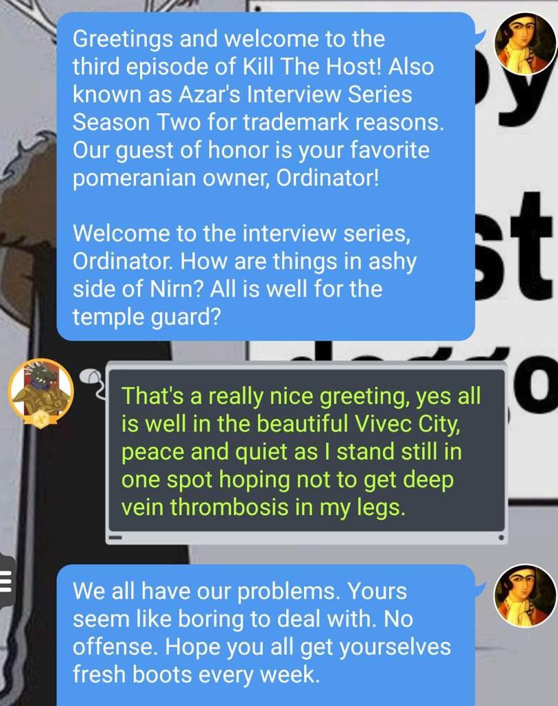 Azar Interviews: Ordinator | Tamriel: Elder Scrolls Amino Amino