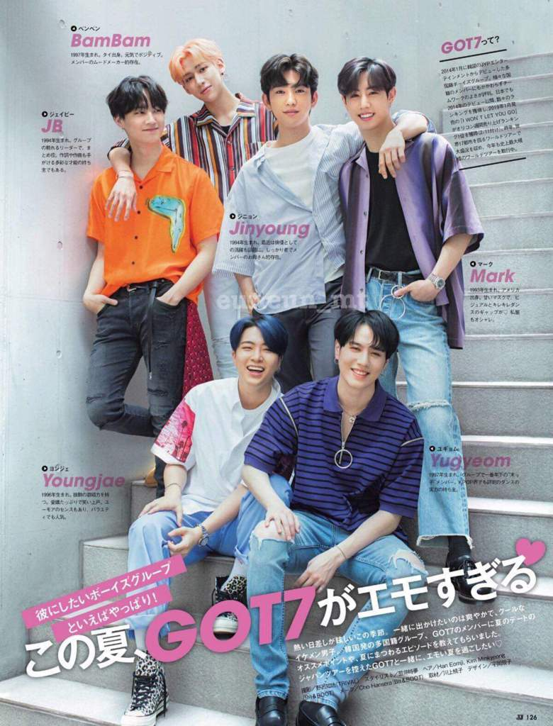GOT7 in JJ Magazine September issue | GOT7 Amino