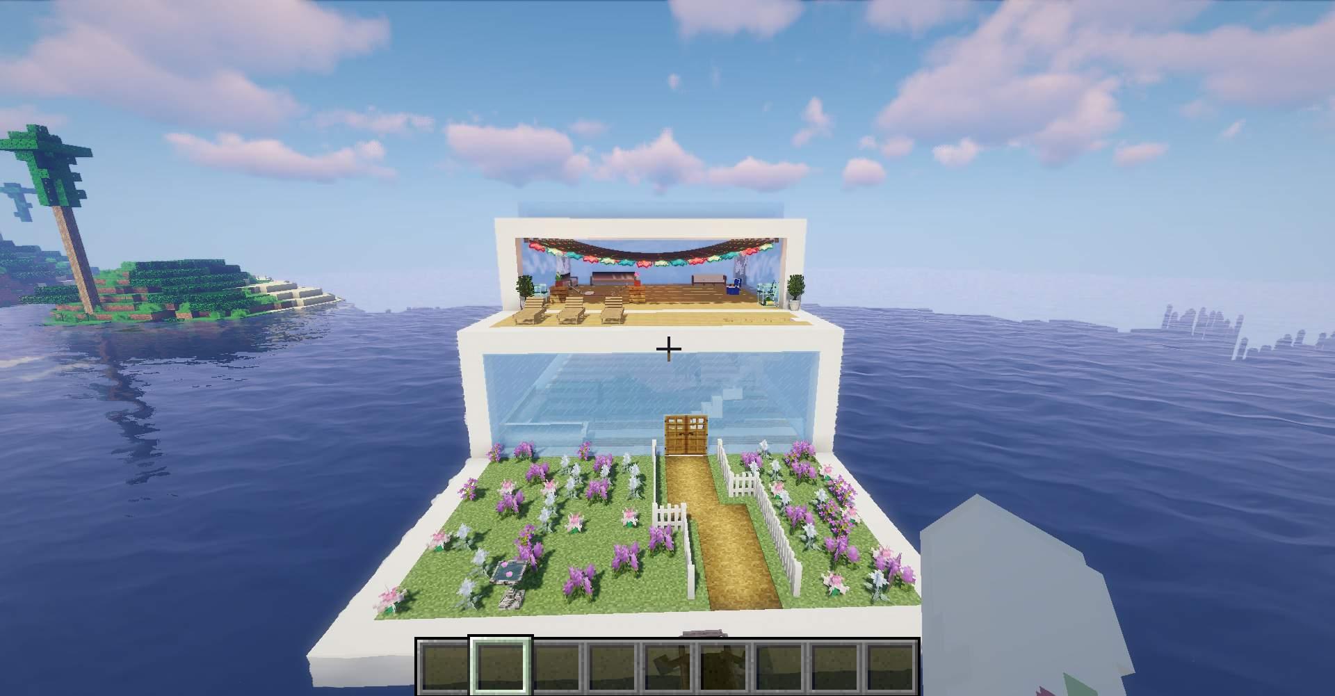 modern water house  Minecraft Amino