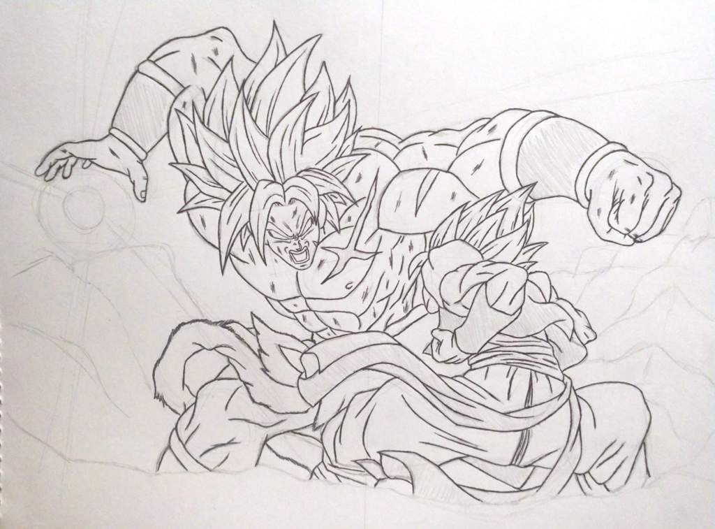 Dibujo Gogeta Vs Broly Dragon Ball Español Amino