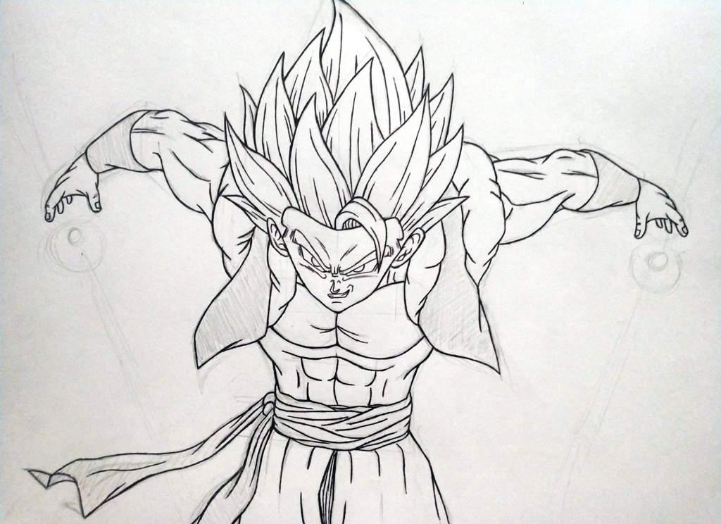 Dibujo Gogeta Super Saiyajin Dragon Ball Español Amino