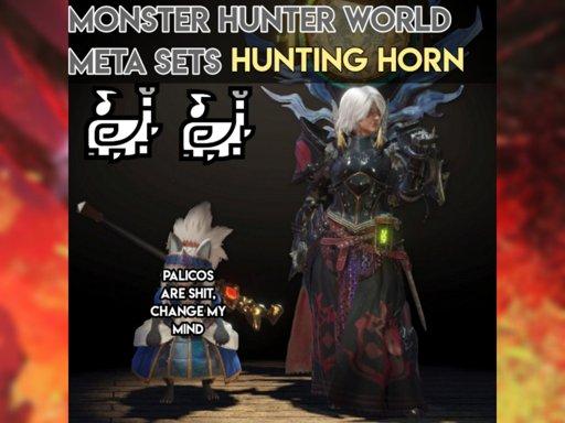 hunting horn monster hunter world memes