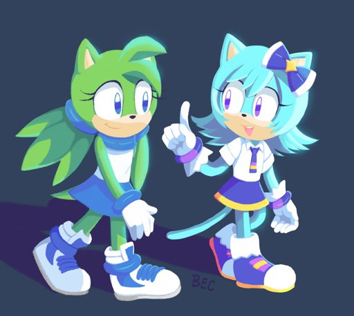 Nova The Octopus And Mint The Cat Sonic The Hedgehog Amino