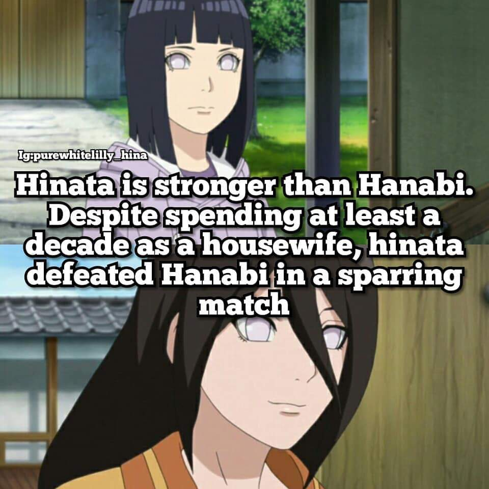 Why i personally don't think Hanabi is stronger than Hinata