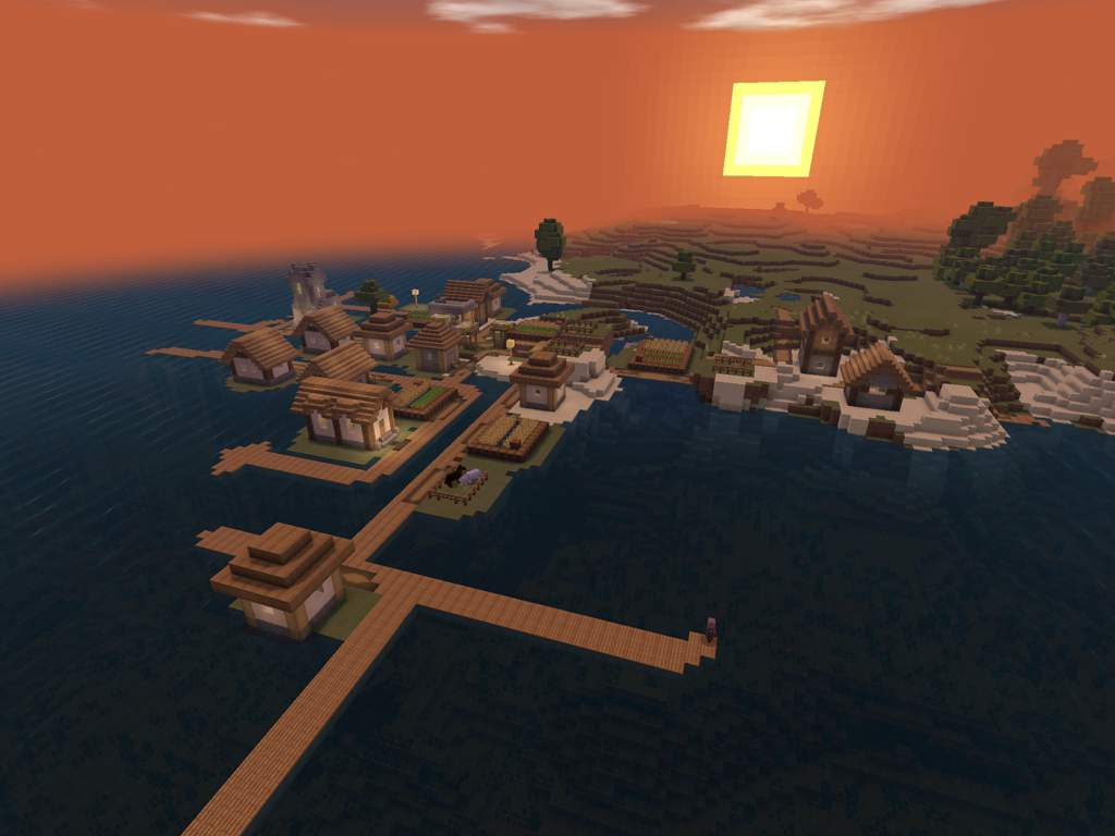 DESERT TEMPLE/PILLAGER OUTPOST/VILLAGE COMBO | Minecraft Amino