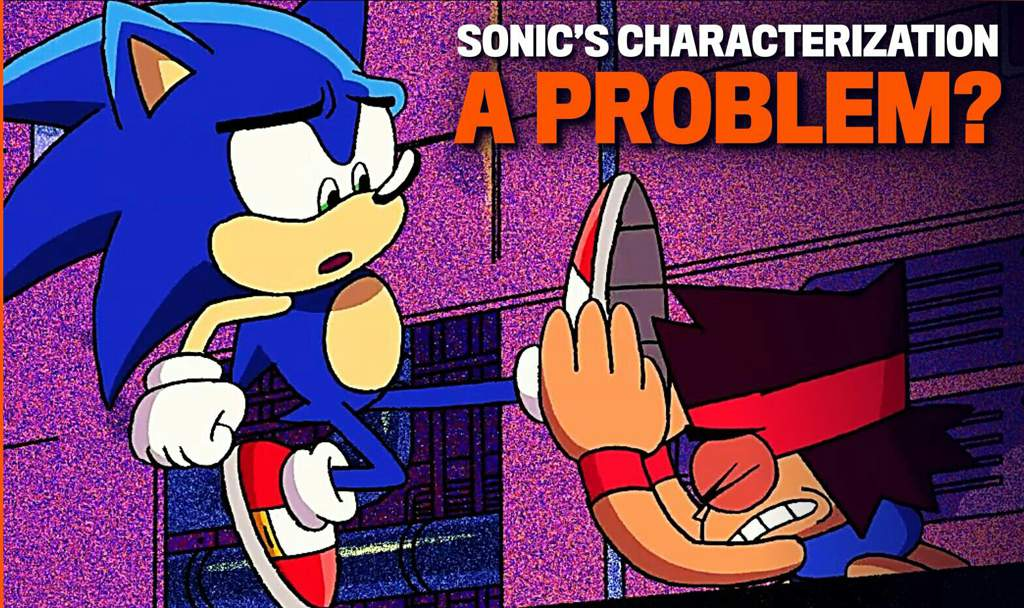 Was sonic's personality actually handled well in the OK KO crossover