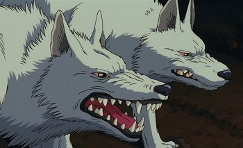princess mononoke wolf head