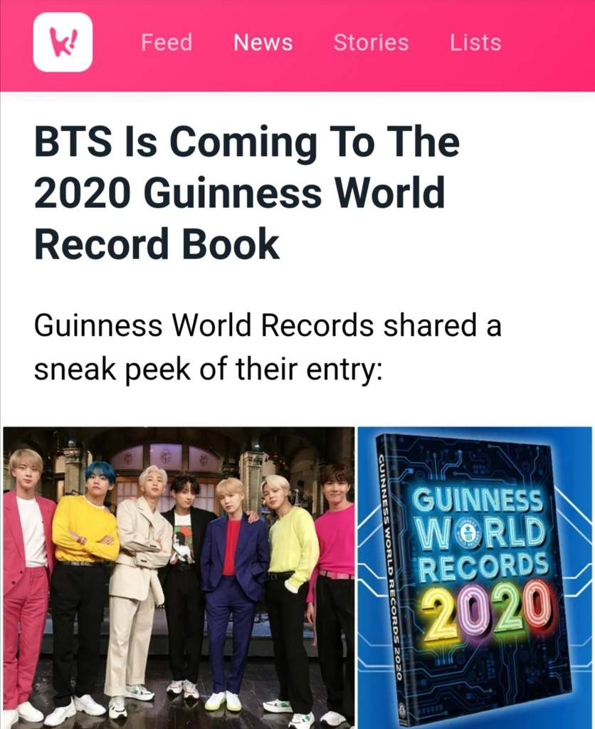 Guinness World Records 2020 List.Bts Is Coming To The 2020 Guinness World Records Book Bts