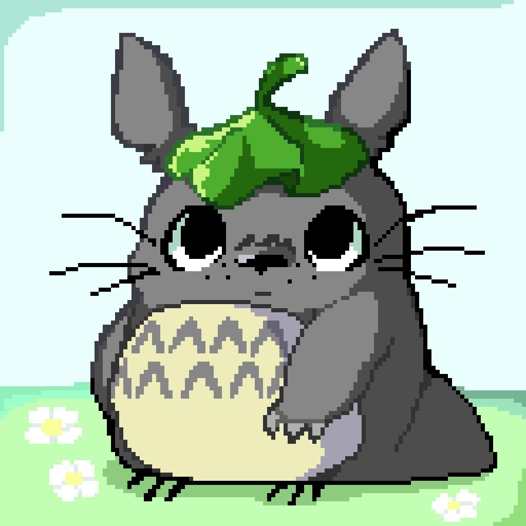 Chibi Totoro Pixel Art Cartoon Amino