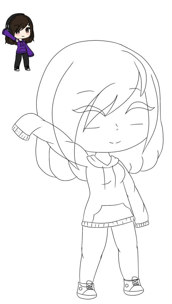 Kawaii Anime Dibujos De Gacha Life Para Colorear Sin Color ...