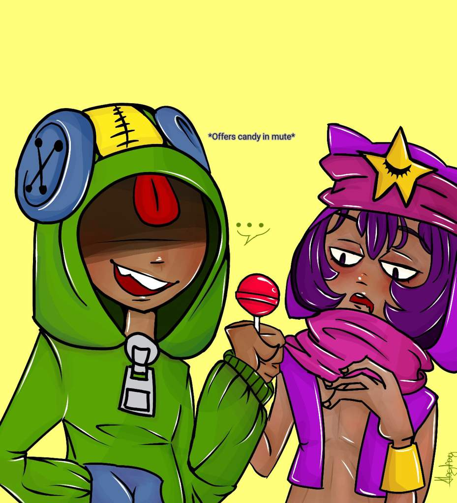 Leon With Sandy Brawl Stars Amino