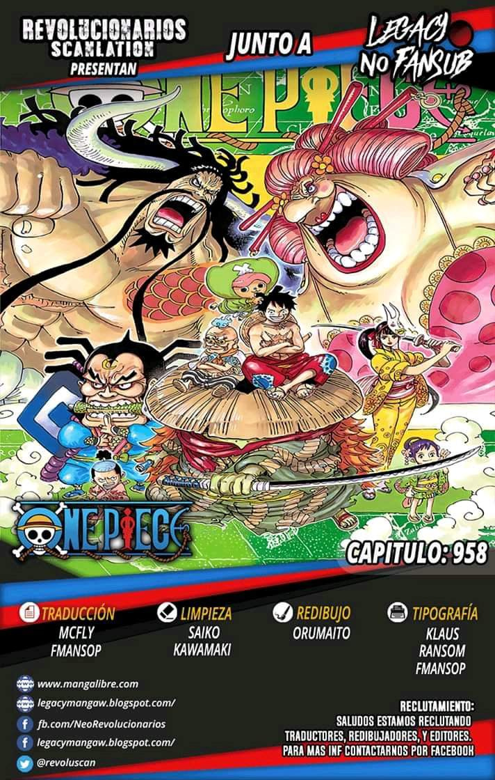 One Piece Manga || 958 | •One Piece• Amino