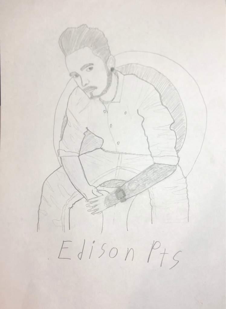 Рисунок эдисона перца карандашом