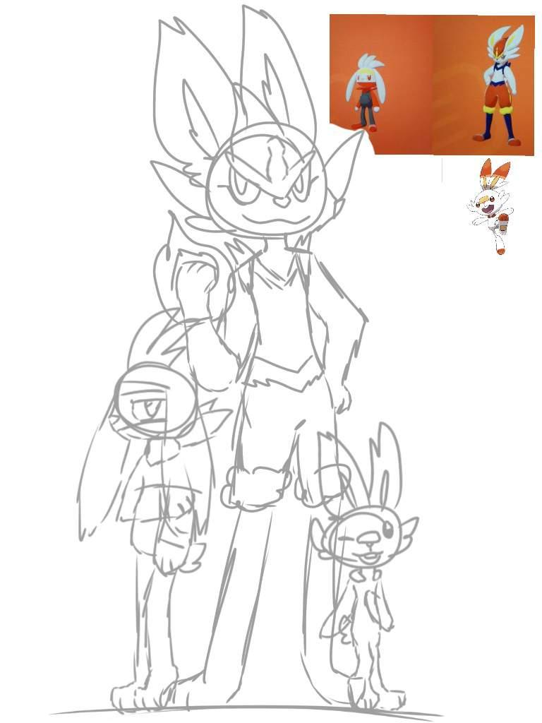 Scorbunny S Line Art Spoiler Warning Pokemon Amino