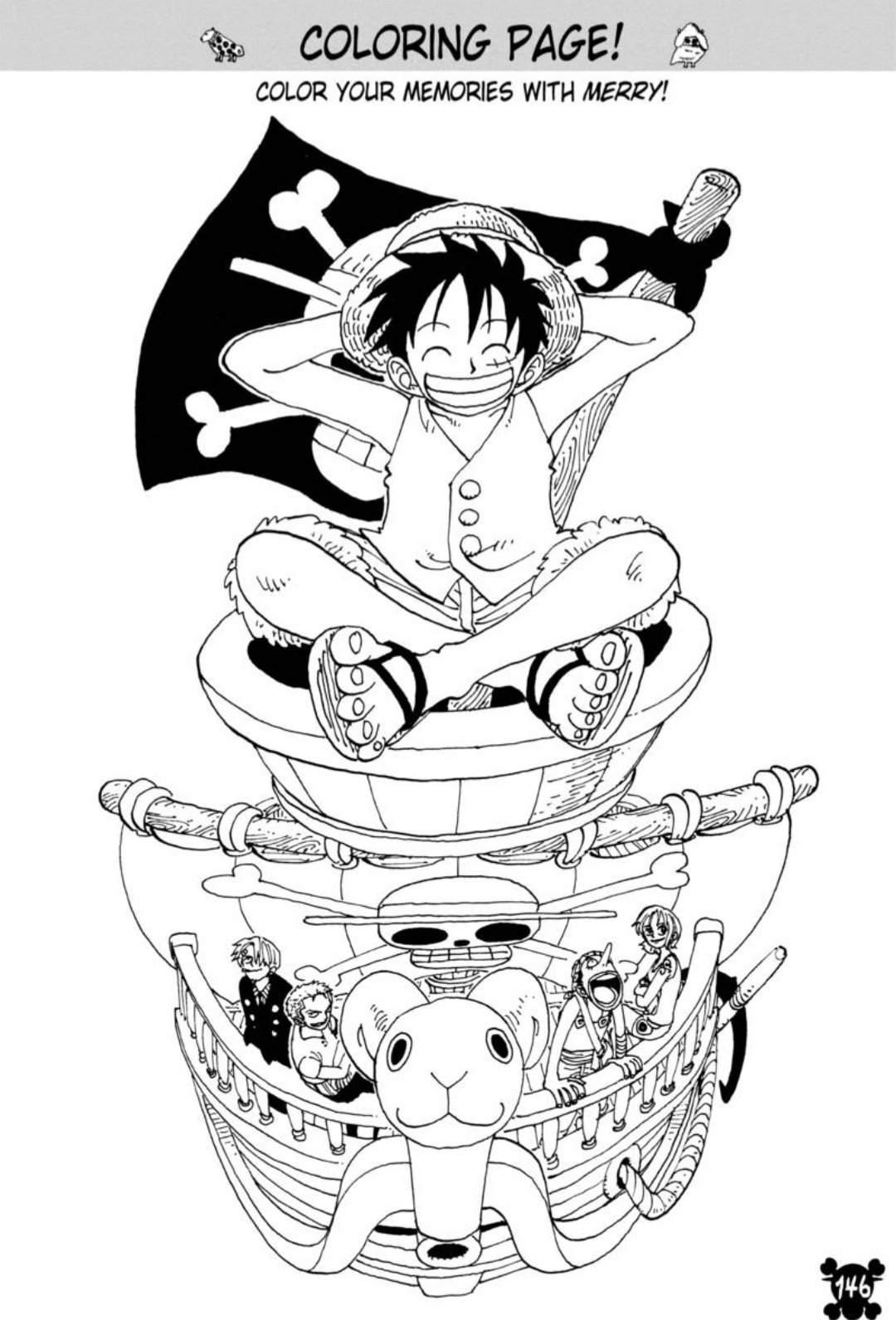 Coloring Page One Piece Amino
