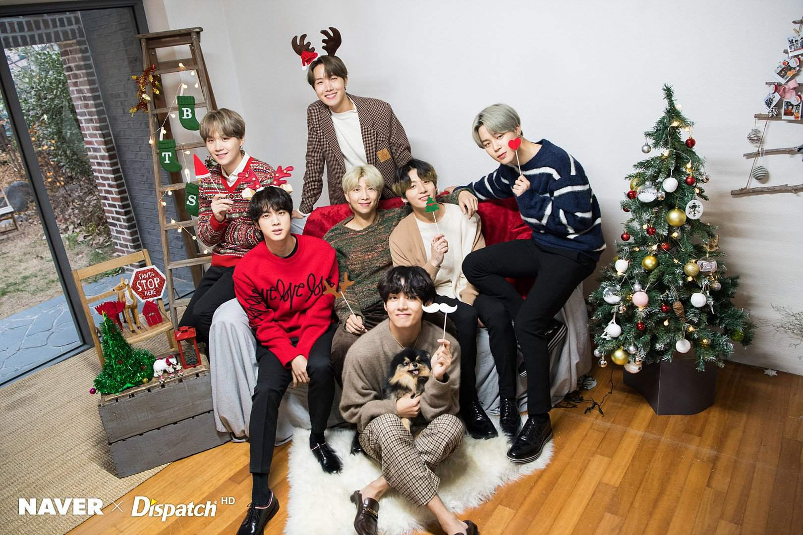 NAVER DISPATCH RELEASES ALL NEW BTS PHOTOS & VIDEOS FOR CHRISTMAS   BTS  Amino