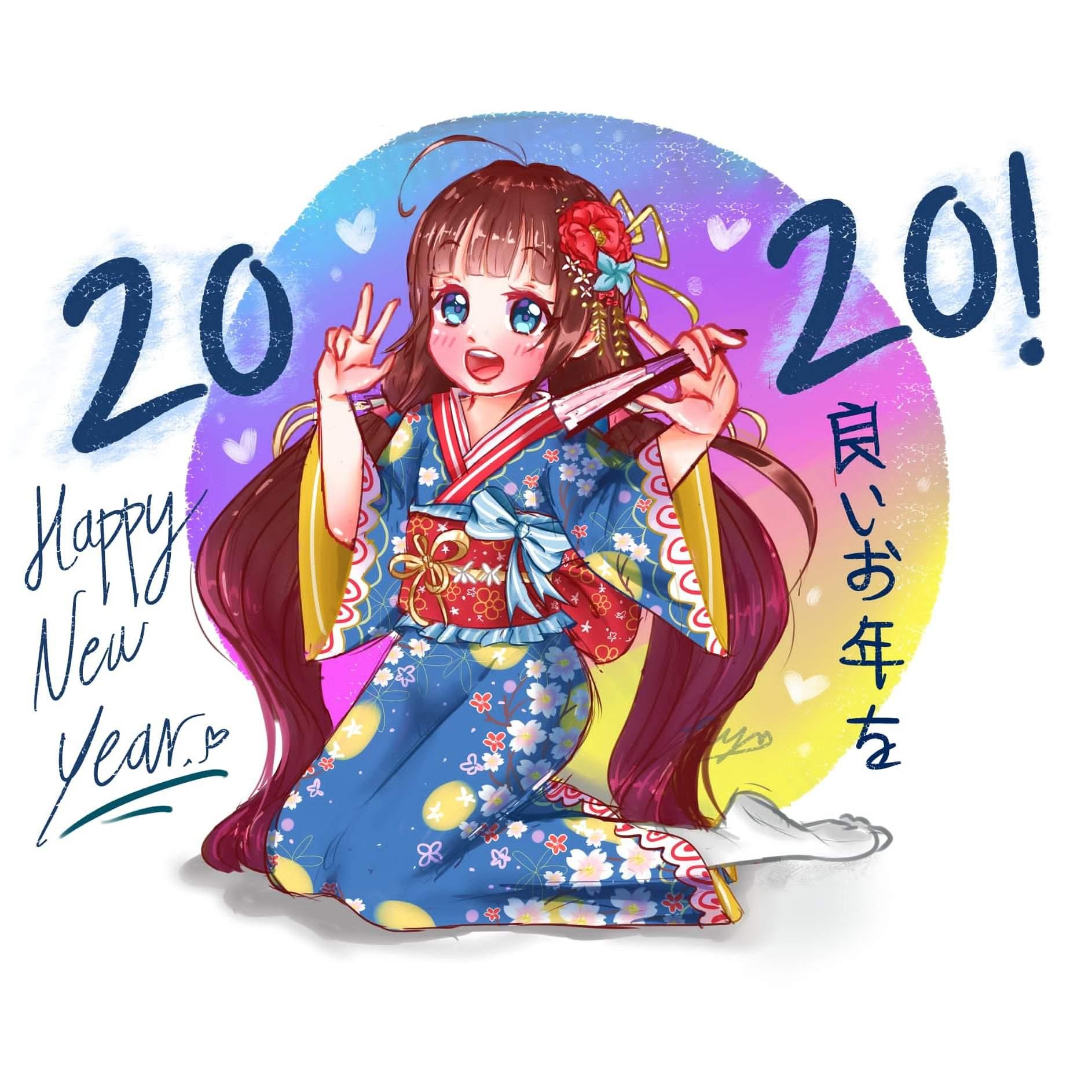 【Speedpaint Sai】 Happy New Year 2020♥ | Arte Anime Amino Amino