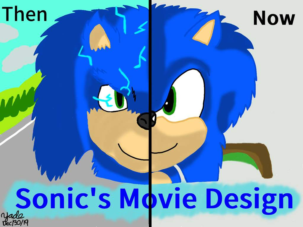 drawing sonic the hedgehog old sonic movie