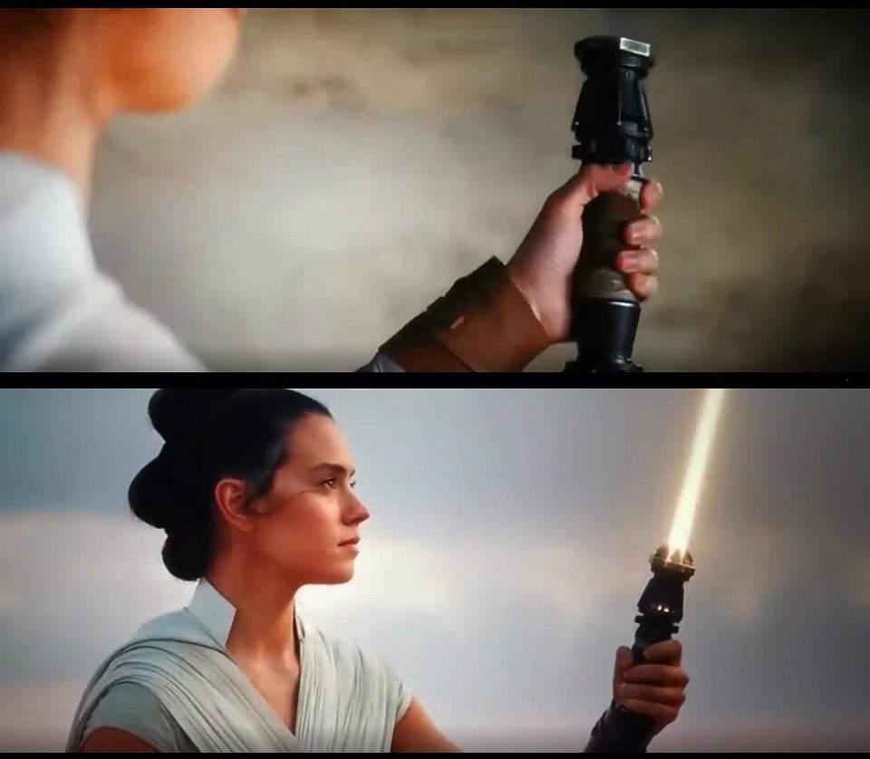 Resultado de imagen de Rey sable de luz amarillo The Rise of Skywalker