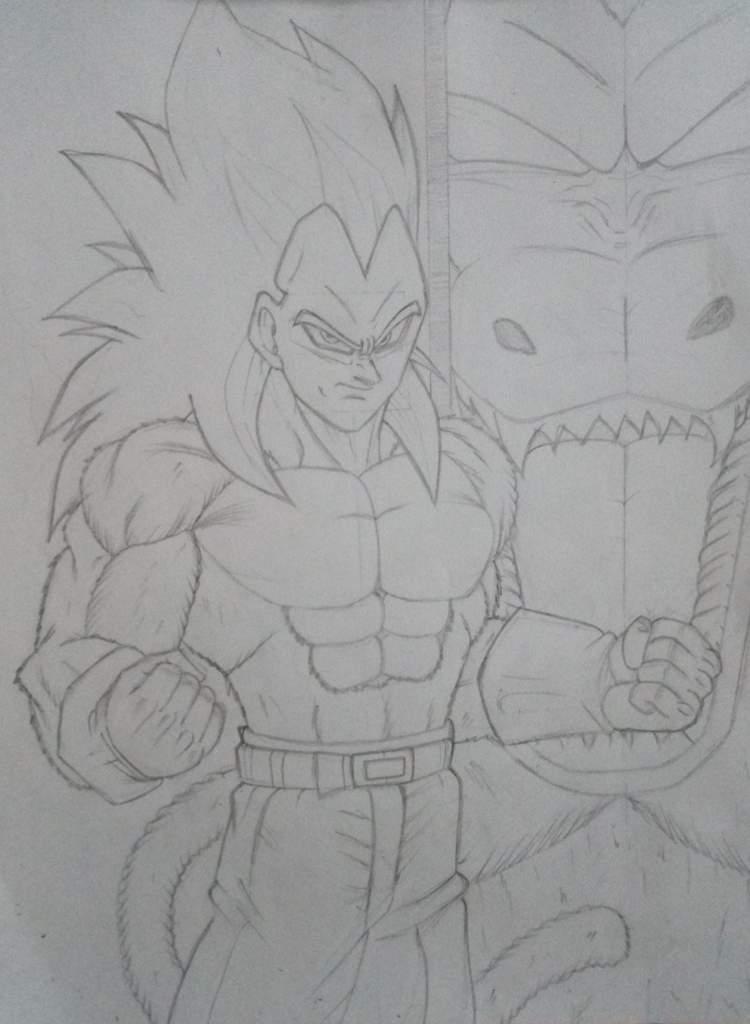 Drawing Vegeta Super Saiyan 4 Anime Amino